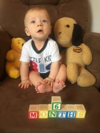 Baby Boy is 6 MONTHS!!