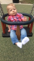 First time swinging. He LOVED the park!!